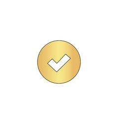 Tick computer symbol vector
