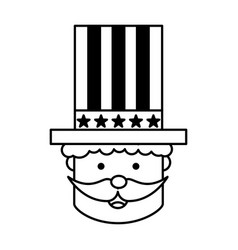 Uncle sam character icon vector