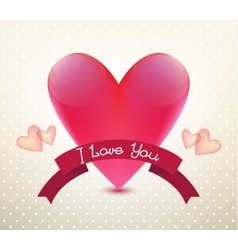 Valentines card poster banner vector image vector image