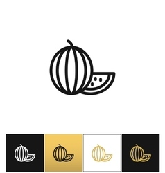 Watermelon linear icon vector