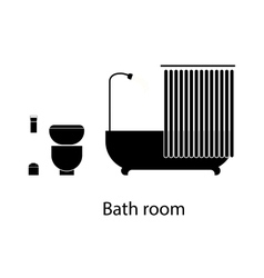 Home and hotel bathroom interior with furniture vector