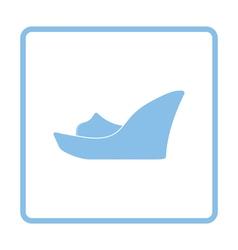 Platform shoe icon vector