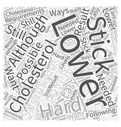 Ways to lower your cholesterol word cloud concept vector