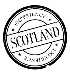 Scotland stamp rubber grunge vector