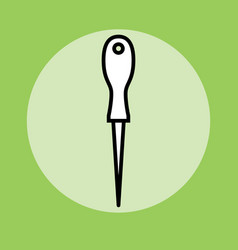 sharp awl tool vector image