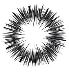 Speed lines sphere graphic explosion design vector