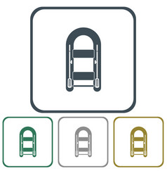 Nflatable boat icon vector
