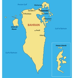 Kingdom of bahrain - map vector