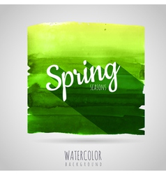 Watercolor abstract background seasons spring vector