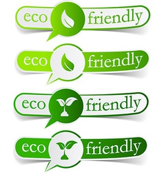 Eco friendly green tags vector image