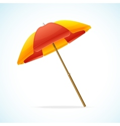Beach umbrella red yellow vector