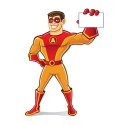 Handsome superhero card vector