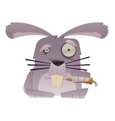 strange rabbit vector image