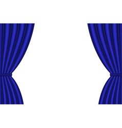 Blue curtain vector