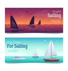 Sailing banners set vector