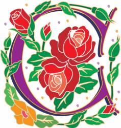 rosette letter C vector image