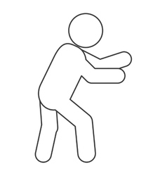 Male pictogram moving icon vector