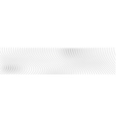 abstract white waves and lines web header banner vector image