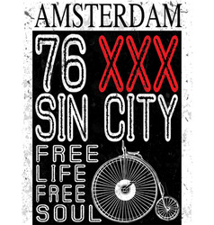Amsterdam skull t shirt graphic design vector