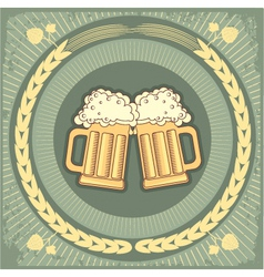 beer jug vector image