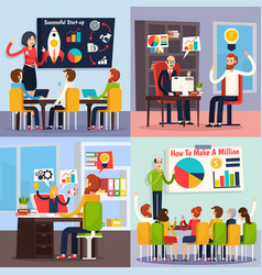 business coaching orthogonal concept vector image vector image