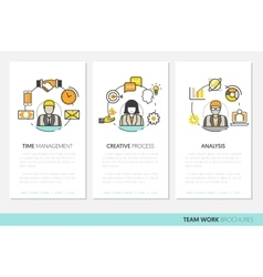 Business Team Work Brochure Template vector image vector image