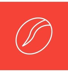 Coffee bean line icon vector