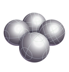 colorless bocce balls made of metal or plastic vector image vector image