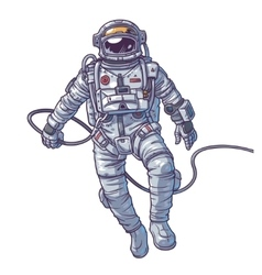 Cosmonaut vector