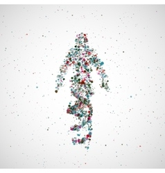 Futuristic model man of dna vector image