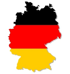 germany flag on map vector image vector image