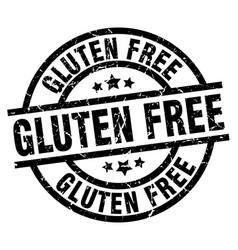 Gluten free round grunge black stamp vector
