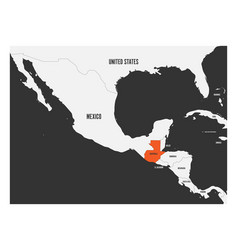 guatemala orange marked in political map of vector image vector image