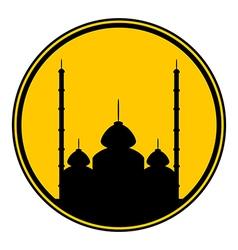 Mosque button vector