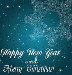 New Year greeting card Congratulations on vector image vector image