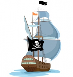 Pirate ship vector