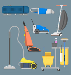 professional cleaning equipment isolated vector image vector image