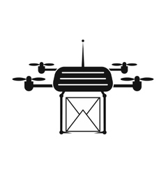 Quadcopter black simple icon vector image