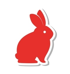 rabbit silhouette isolated icon vector image