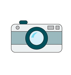 retro camera on white background vector image
