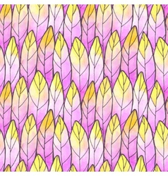 Seamless Background Feather Pattern vector image vector image