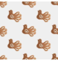 Pattern with gingerbread cookies vector