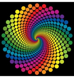 Swirly wallpaper rainbow background vector image