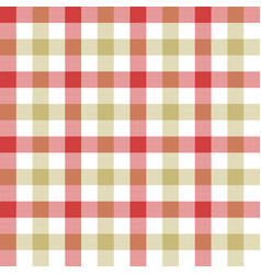 Red beige check tablecloth seamless pattern vector