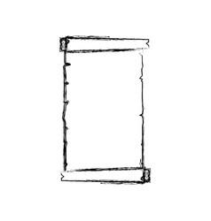 Monochrome sketch contour of canvas textile vector