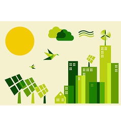 City sustainable development concept vector