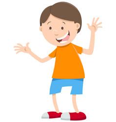 Happy boy cartoon character vector
