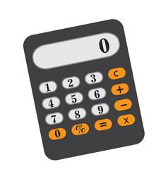 calculator icon flat cartoon style isolated on vector image