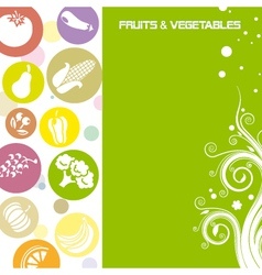 Fruit and vegetable card vector