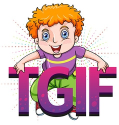 Thank god its friday vector